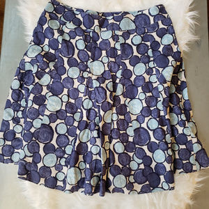 US 14 L Boden Blue and White Dotted Skirt